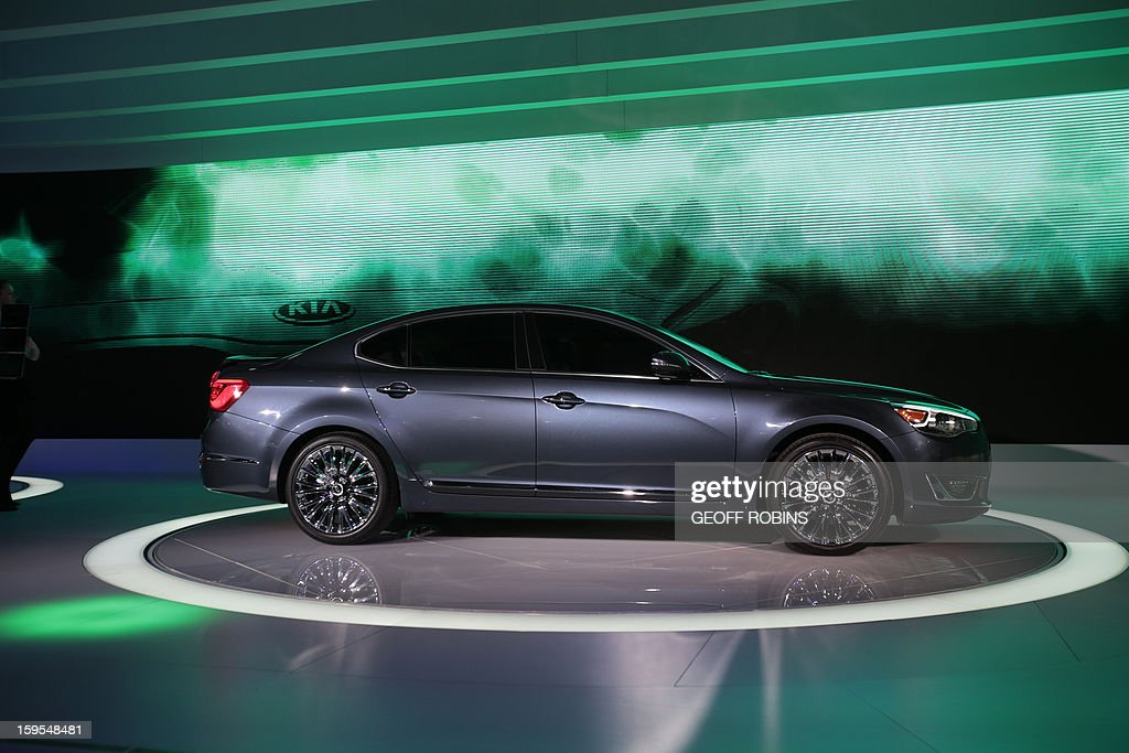 The Kia Cadenza is introduced at the 2013 North American International Auto Show in Detroit, Michigan, on January 15, 2013. AFP PHOTO/Geoff Robins