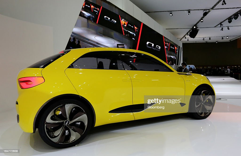 The Kia Motors Corp. CUB concept vehicle stands on display during the press day of the Seoul Motor Show in Goyang, South Korea, on Thursday, March 28, 2013. The show runs from today until April 7. Photographer: SeongJoon Cho/Bloomberg via Getty Images