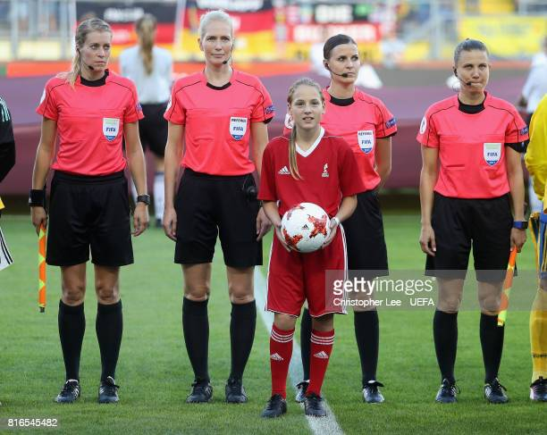 The Kia Official matchball carrier during the UEFA Women's Euro 2017 Group B match between Germany and Sweden at Rat Verlegh Stadion on July 17 2017...