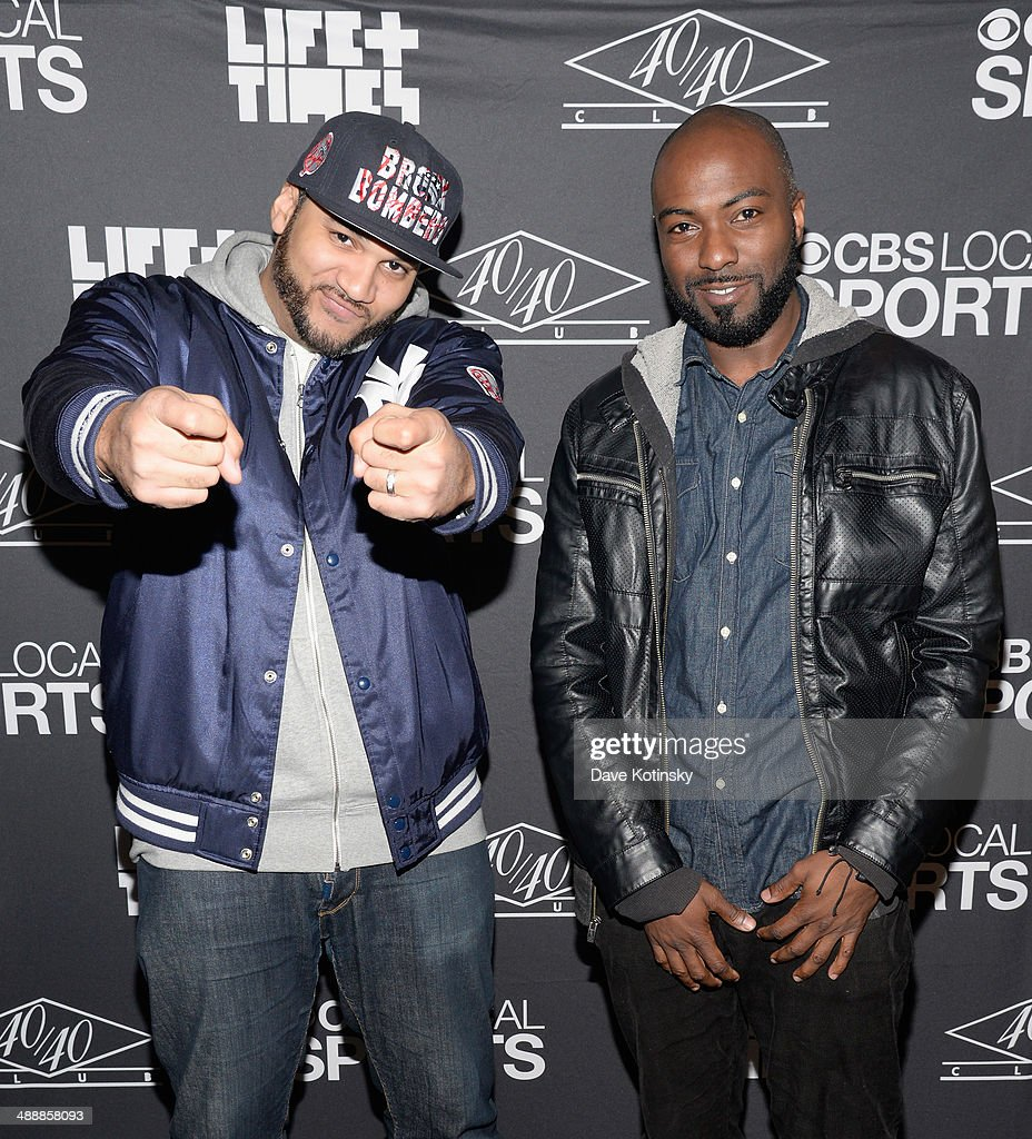 The Kid Mero (L) and Desus attend CBS Local Sports' Draft Party on May 8, 2014 in New York City.