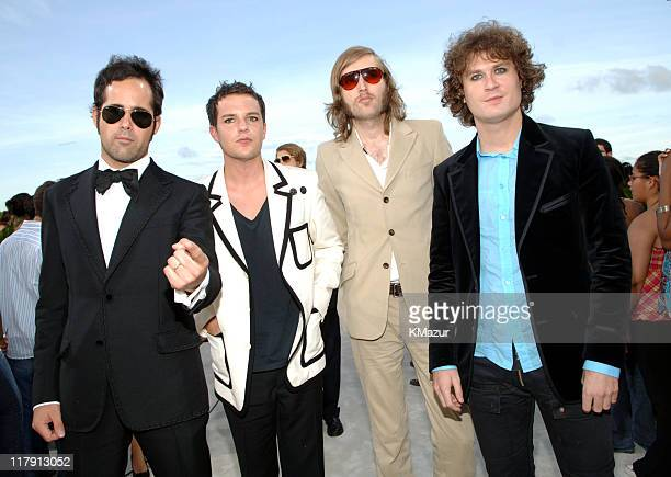 The Killers during 2005 MTV Video Music Awards White Carpet at American Airlines Arena in Miami Florida United States