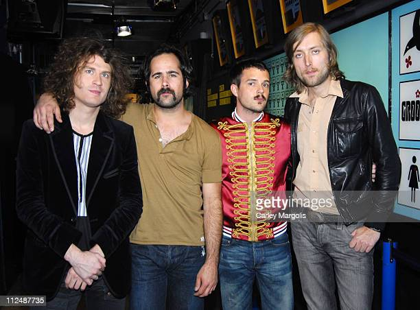 The Killers during Ludacris Billy Bob Thornton Jon Heder The Killers and AFI Visit MTV's 'TRL' September 26 2006 at MTV Studios in New York City New...