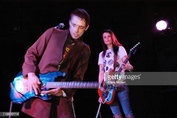 The Kills during CMJ Music Marathon 2003 The Kills concert New York at Bowery Ballroom in New York New York United States