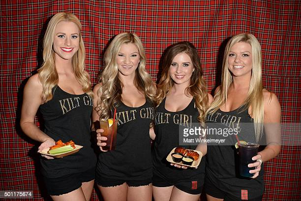 The Kilt Girls of Tilted Kilt Pub Eatery host the Private Horror Movie Nights with Slash Ryan Kwanten Chuck Walton and Jenna Barnes on December 12...