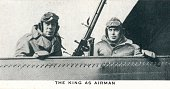 The King as Airman' number 7 of 50 from the 'Our King And Queen' cigarette cards produced for WD HO Wills The Imperial Tobacco Company 1937 The...