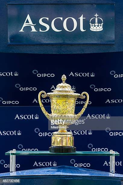 The King George VI Queen Elizabeth Stakes Trophy during Day 1 of King George Weekend at Ascot Racecourse on July 26 2014 in Ascot England