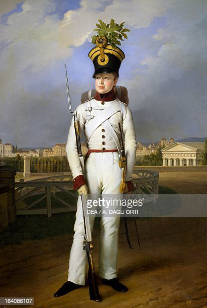 The King of Rome Duke of Reichstadt portrait of a young of Napoleon II Emperor of France Painting by Joseph Kraft Naples Museo Nazionale Di...