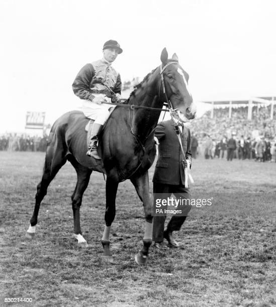 The King's horse 'Anmer' ridden by Herbert Jones during the parade prior to the 1913 Derby During the race a suffragette Miss Emily Davison threw...