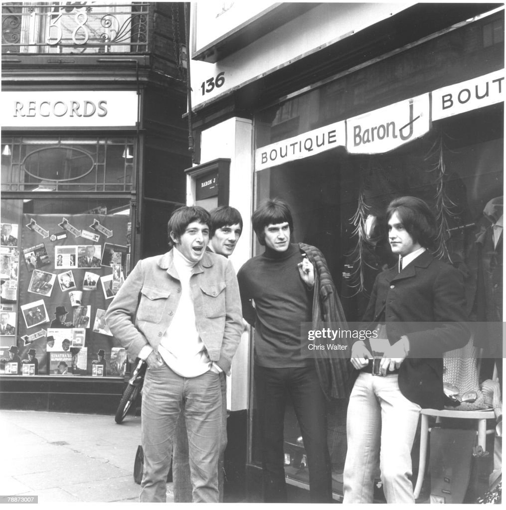 The Kinks, 1966 - Pete Quaife, Mick Avory, Ray Davies and Dave Davies - Carnaby Street, London