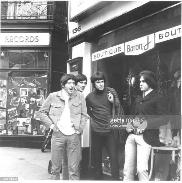 The Kinks 1966 Pete Quaife Mick Avory Ray Davies and Dave Davies Carnaby Street London