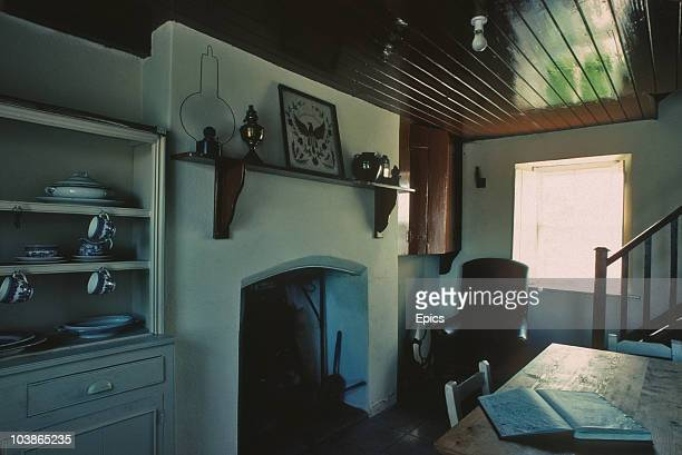 The kitchen in Eamon De Valera cottage the house in which De Valera grew up Bruree County Limerick October 1990