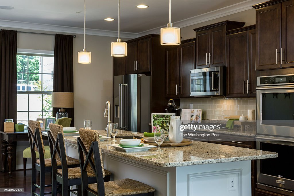 The Kitchen in the Edinburgh Model at Admirals Ridge on August 11 2016 in Arnold Maryland