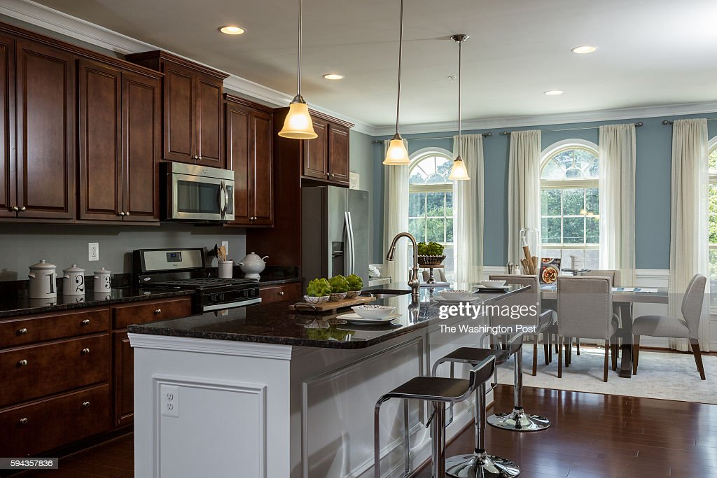 The Kitchen in the Glasgow Model at Admirals Ridge on August 11 2016 in Arnold Maryland