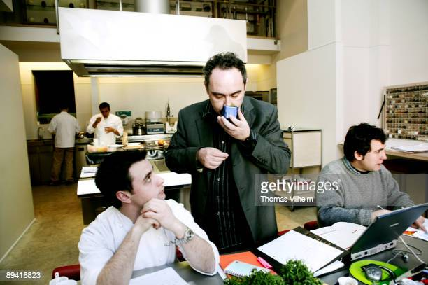 The kitchen of the workshop of El Bulli and chef Ferran Adria