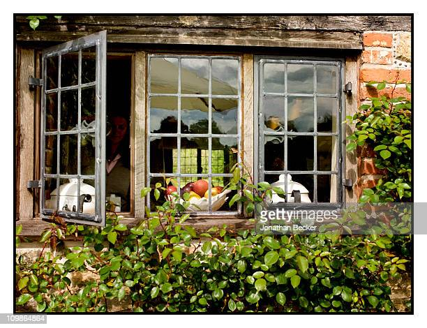 The kitchen window of Princess MarieChantal's home 'Beale House' is photographed for Vanity Fair Spain on May 23 2009 in West Sussex England...