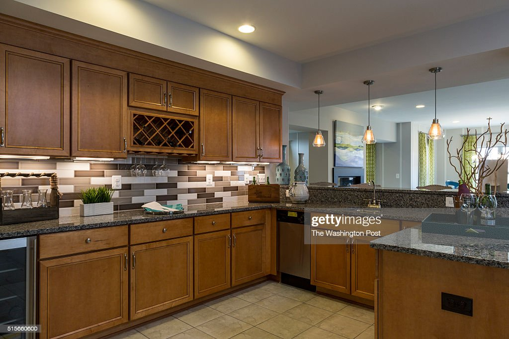 The Kitchenette in the Basement of the Lynhurst Model at Hickory Falls on March 1 2016 in Woodbridge Virginia