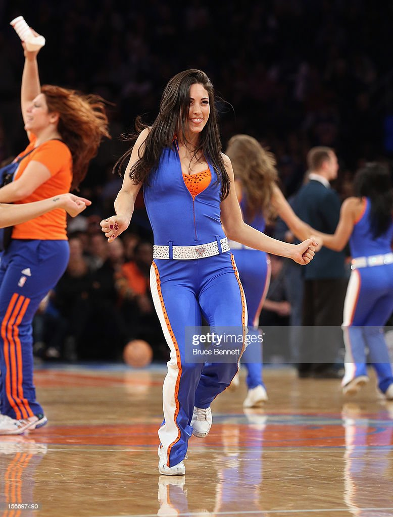 The Knicks City Dancers enetertain fans during the game between the Knicks and the Indiana Pacers at Madison Square Garden on November 18, 2012 in New York City.