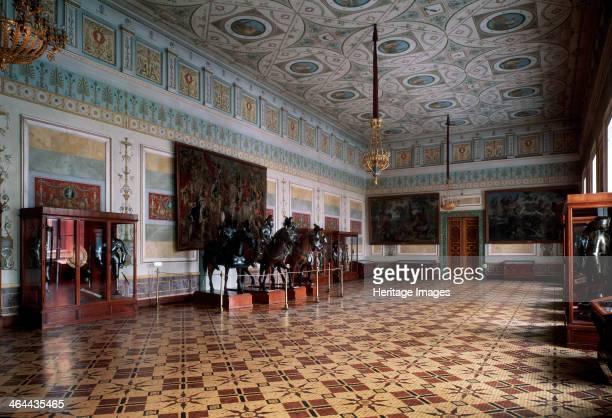 'The Knight Hall of the Hermitage in Saint Petersburg' c19th century Leo von Klenze Russian Architecture State Hermitage St Petersburg
