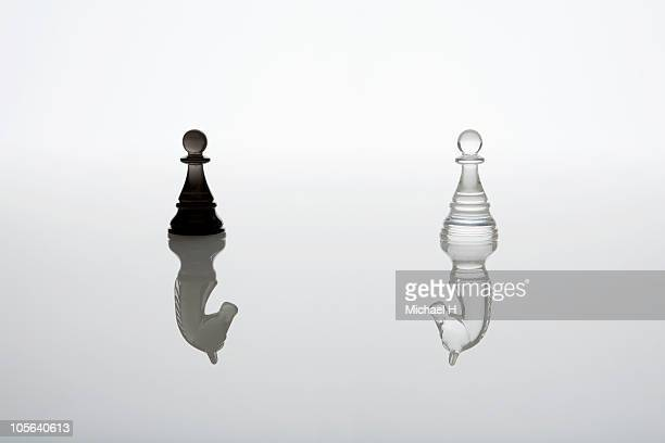 The knight who pretended to be a pawn each other