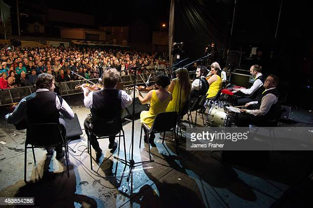 The Knockmore Ceili Band performs on stage at the Fleadh Cheoil 2014 Day 8 at the Gig Rig on August 17 2014 in Sligo Ireland
