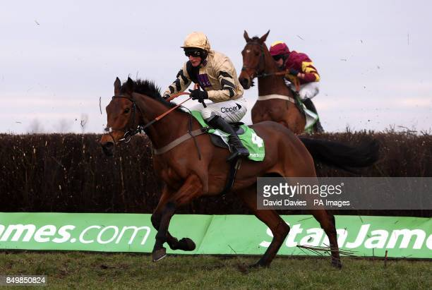 The Knoxs ridden by Daryl Jacob during the StanJames Supporting Greatwood Gold Cup Handicap Steeple Chase
