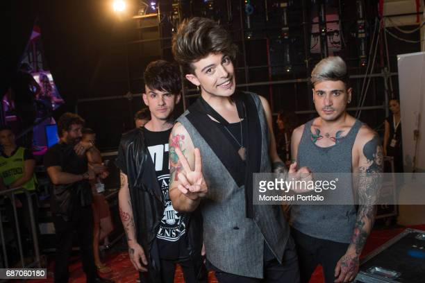 The Kolors in the backstage during the CocaCola Summer Festival Rome Italy 23rd June 2016