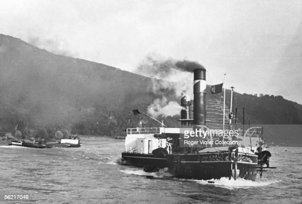 The 'Konigin Wilhelmina' of Rotterdam on the Rhine Beginning the XXth century