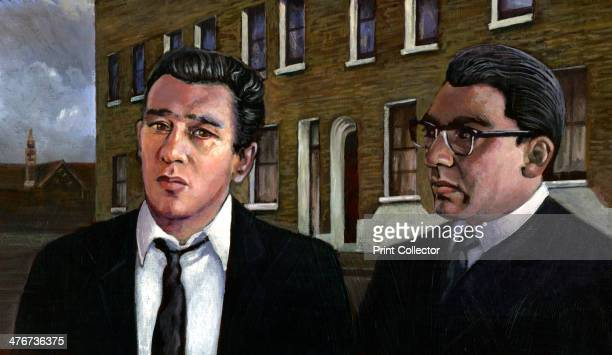 The Kray Twins Twin brothers Ronald Kray and Reginald Kray 2013 In this contemporary painting they are imagined in front of their parent's house in...