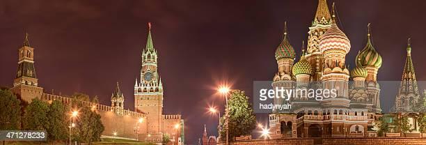 Le Kremlin et de Saint-Basile, Moscou, vue de nuit