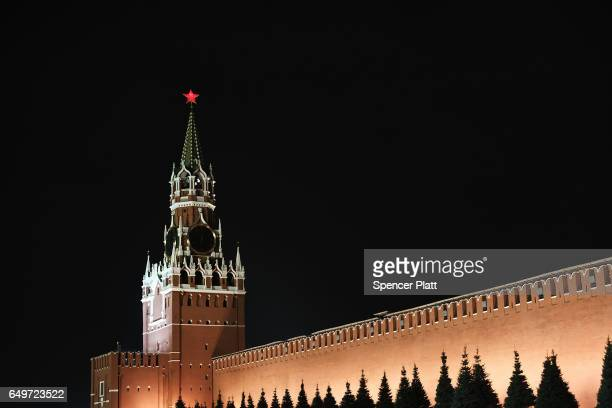 The Kremlin stands in Red Square in Moscow on March 7 2017 in Moscow Russia Relations between the United States and Russia are at their lowest point...