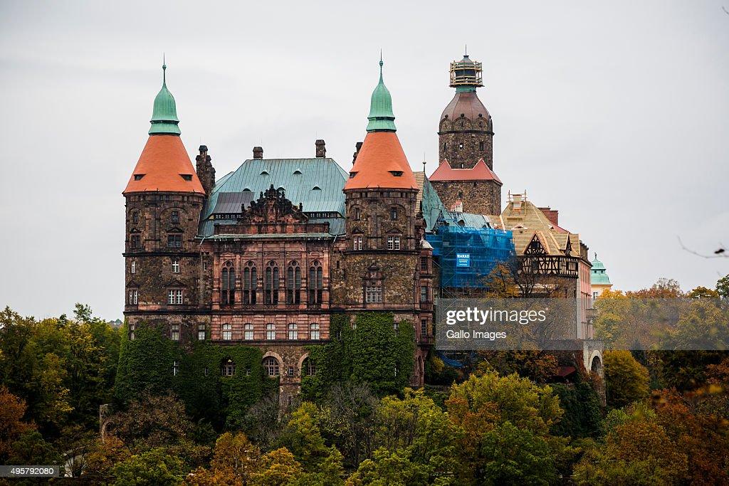 Walbrzych Poland  City pictures : The Ksiaz Castle on October 20, 2015 in Walbrzych, Poland. The Ksiaz ...