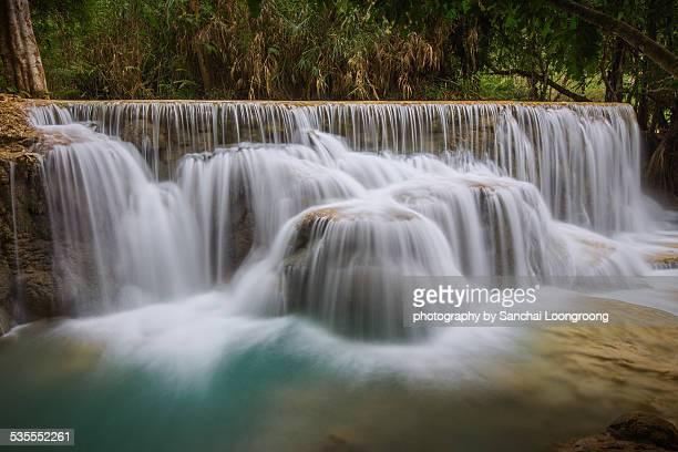 The Kuang Si Falls In Luang Prabang, Laos