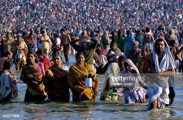 The Kumbh Mela of Allahabad takes place once every twelve years at the confluence of three holy rivers the Ganges the Yamuna and the mythical and...