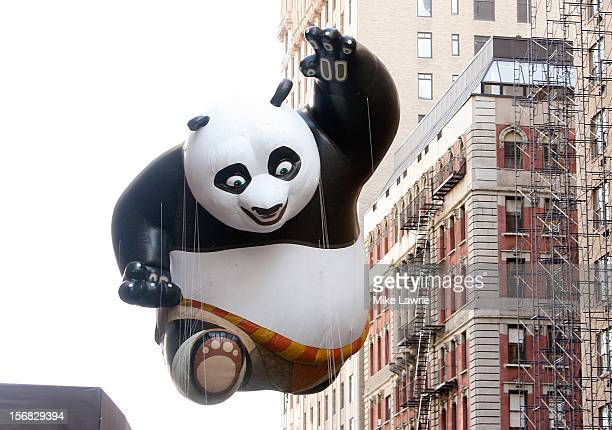 The Kung Fu Panda balloon is seen during the 86th Annual Macy's Thanksgiving Day Parade on November 22 2012 in New York City