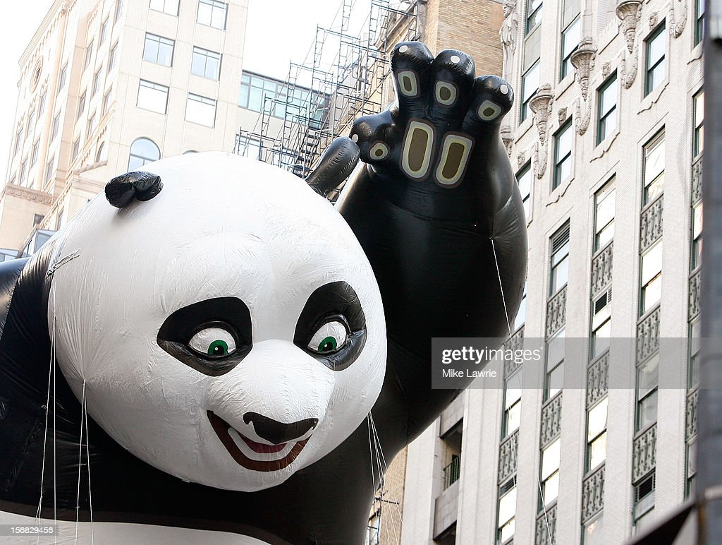 The Kung Fu Panda balloon is seen during the 86th Annual Macy's Thanksgiving Day Parade on November 22, 2012 in New York City.