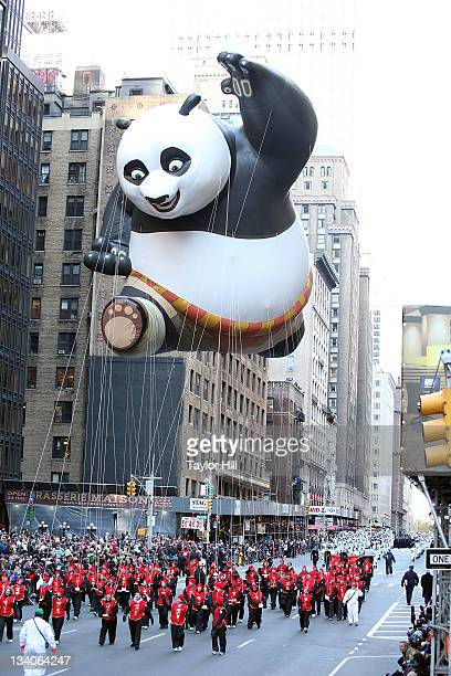 The Kung Fu Panda balloon seen at the 85th annual Macy's Thanksgiving Day Parade on November 24 2011 in New York City