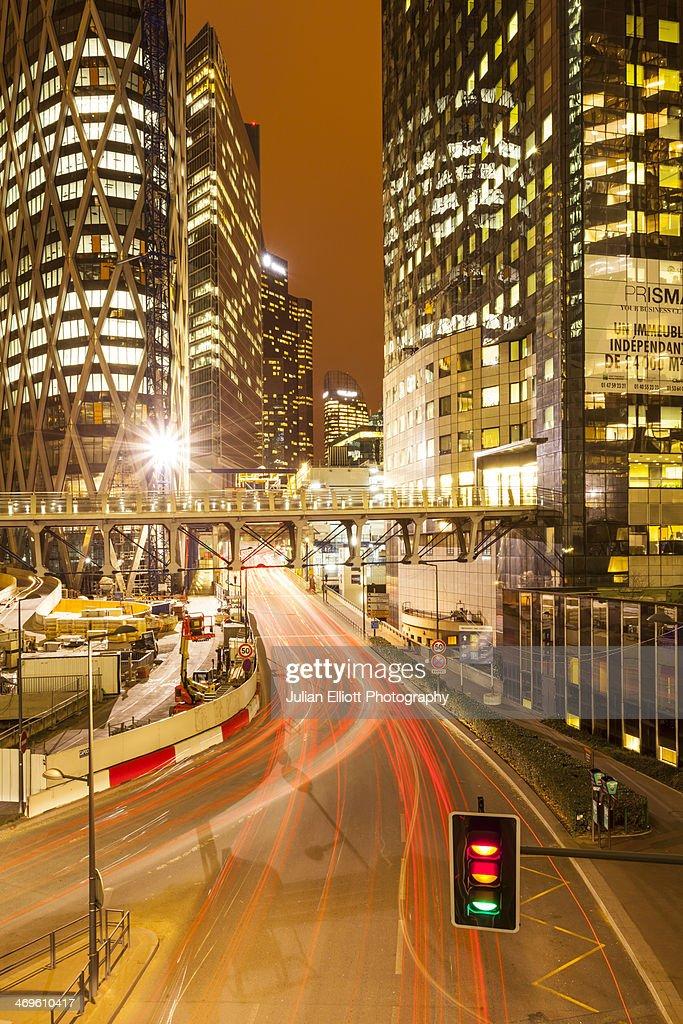 The La Defense business district of Paris. : Stock Photo
