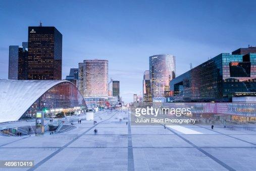 The La Defense business district of Paris.