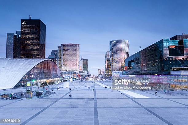 The La Defense business district of Paris.