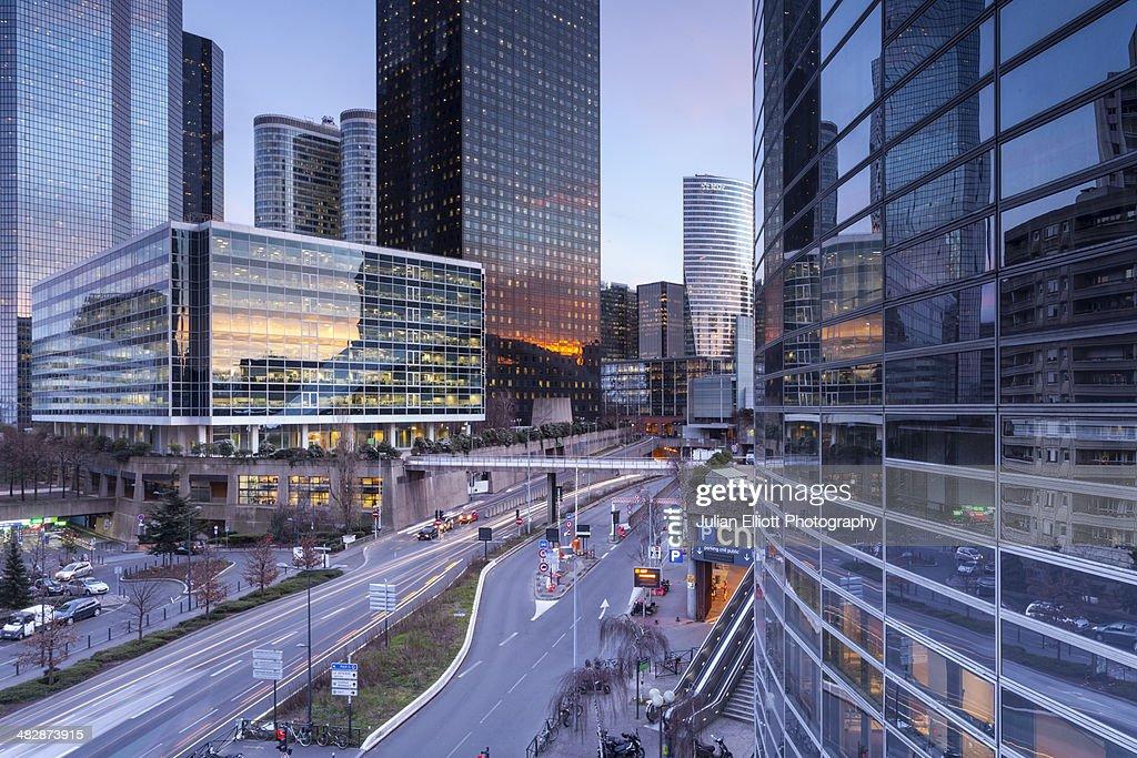 The La Defense business district of Paris : Stock Photo