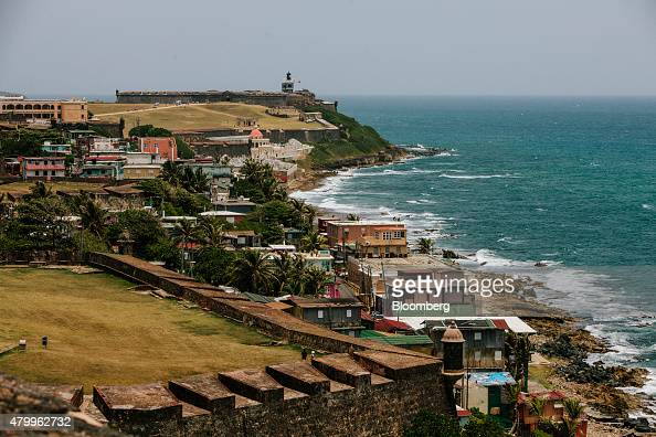 The La Perla shanty town foreground is seen in the Old City of San Juan Puerto Rico on Wednesday July 8 2015 A growing number of Republicans in the...