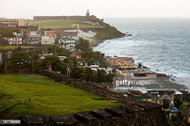 The La Perla shanty town sits just a few steps from the upscale neighborhoods of Condado and Old San Juan on November 12 2013 in San Juan Puerto Rico...