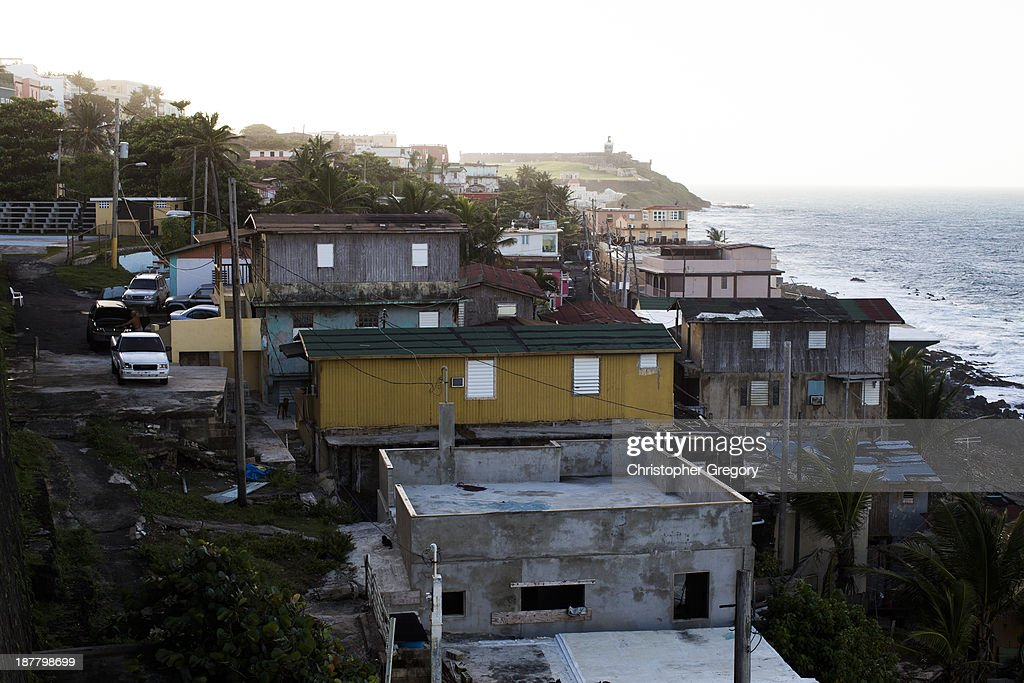 The La Perla shanty town sits just a few steps from the upscale neighborhoods of Condado and Old San Juan on November 12, 2013 in San Juan, Puerto Rico. The island territory of the United States, Puerto Rico, is on the brink of a debt crisis as lending has skyrocketed in the last decade as the government has been issuing municipal bonds. Market analysts have rated those bonds as junk and suspect it's 70 billion dollar debt might be unserviceable in the near future. With no industry other than tourism and the recent collapse of the real estate market, the way out is unclear.