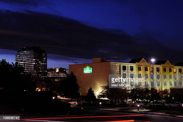 The La Quinta Inn Suites Denver Englewood Tech Center is seen November 17 2010 in Greenwood Village Colorado Two 29yearold twin sisters from...