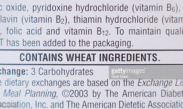 The label on a box of Kellogg's Frosted Mini Wheat lists wheat as an ingredient that may cause an allergic reations January 3 2006 in Chicago...