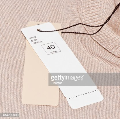 The labels : Stock Photo
