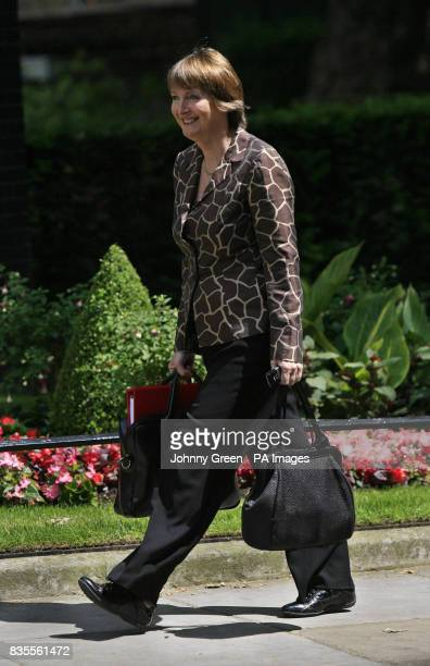 The Labour Party Deputy Leader and Party Chairman Harriet Harman arrives at 10 Downing Street in central London