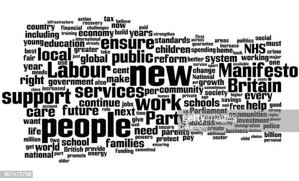 The Labour Party manifesto as seen through the internet tool wordlenet The use of words in the three main manifestos offers an insight into the...