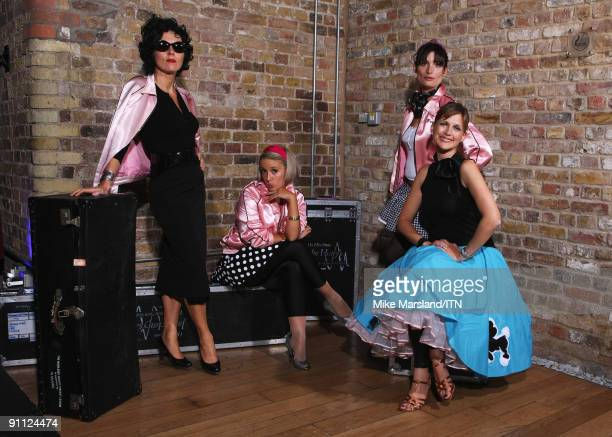 The Ladies of the ITV news team pose ahead of their performance at the 'Newsroom�s Got Talent' event held in aid of Leonard Cheshire Disability and...