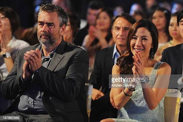 'The Lady' Director Luc Besson and actress Michelle Yeoh attend the Awards night and Closing Ceremony for the Hua Hin International Film Festival at...